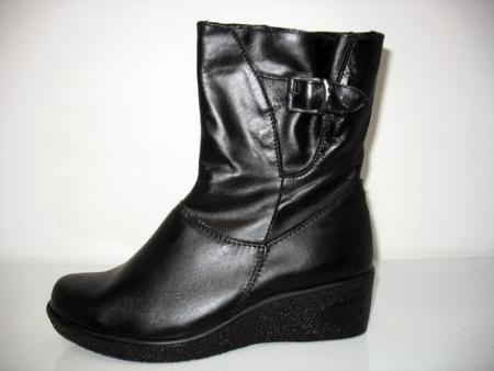 ORTO Plus Dámská kotníková obuv zimní vzor 682 - zapínání na zip