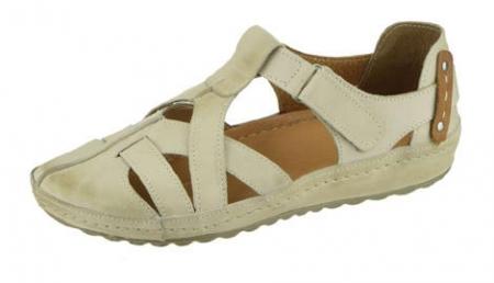 Dámské kožené sandále Peon KA/74-7 T/béžové