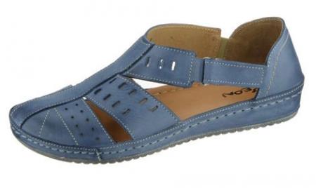 Dámské kožené sandále Peon KA/131-3 T/modré