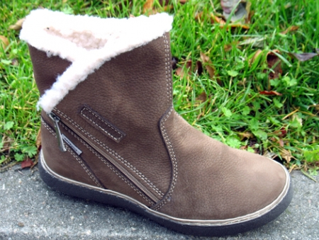 Orto Plus Dámská zimní kožená obuv vzor N312-02GR/hnědé