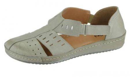 Dámské sandále kožené Peon KA/131-6/šedá